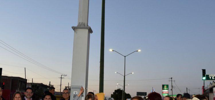 Enciende Presidenta Municipal iluminación LED en bulevar Solidaridad