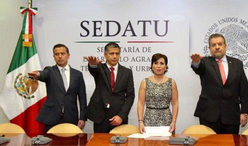 Rosario Robles nombra a nuevos funcionarios en Sedatu