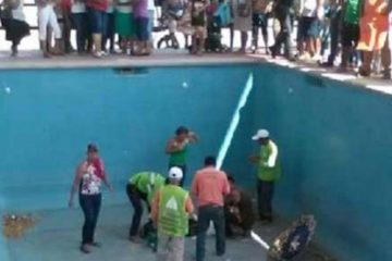 Mujer de la tercera edad muere tras caer a una piscina vacía  durante entrega de apoyos