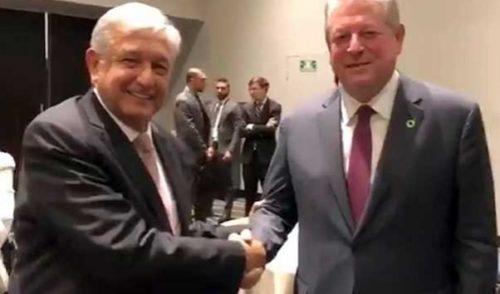 Se encuentra AMLO con Al Gore