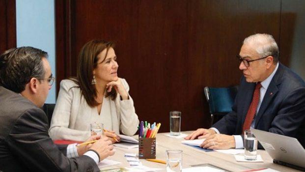 Margarita Zavala se reúne con José Ángel Gurría