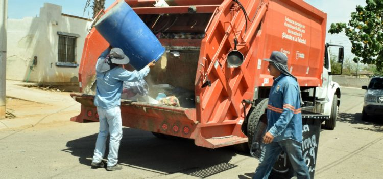 Realizan recolección de basura en todas las colonias del sector sur