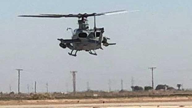 Helicóptero militar se estrella en California