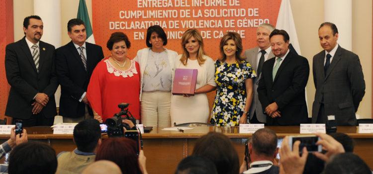 Entrega Gobernadora informe sobre solicitud de alerta de género para Cajeme