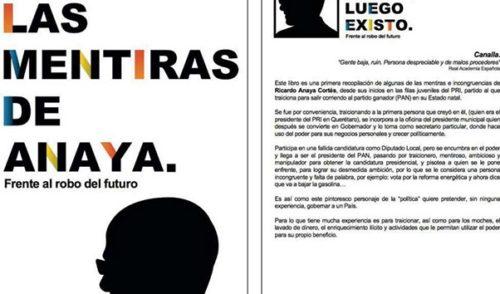 Publican en redes sociales el libro Las Mentiras de Anaya