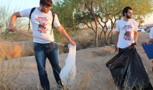 Promueve David Palafox la cultura de la limpieza en Hermosillo