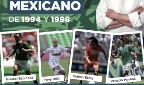 Ernesto de Lucas, invita a juego con leyendas del futbol mexicano