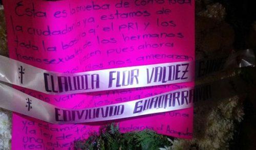 Dejan coronas fúnebres en sede del PRI en Acapulco