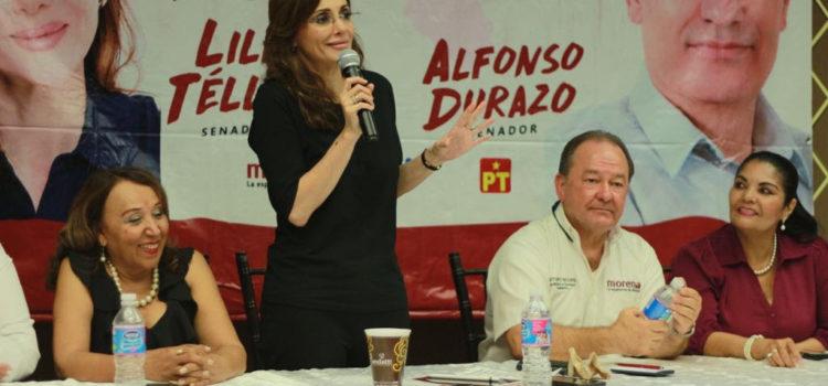 Reitera Lilly Téllez a empresarios confianza en el proyecto económico de AMLO