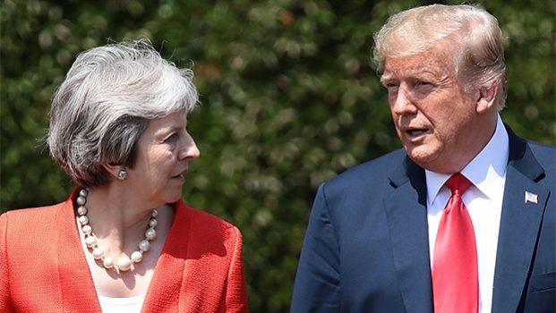 Muestra Trump apoyo a Theresa May por Brexit