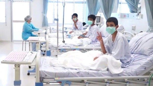 Primeras imágenes en el hospital de niños rescatados de cueva