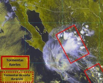 Emite Unidad Estatal de Protección Civil Aviso por posibles lluvias en el sur de Sonora