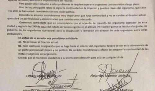 Solicitan a Célida López no remover a director de AguaH
