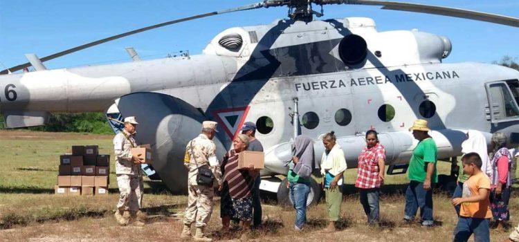 Secretaría de la Defensa Nacional distribuye alimentos en Sonora