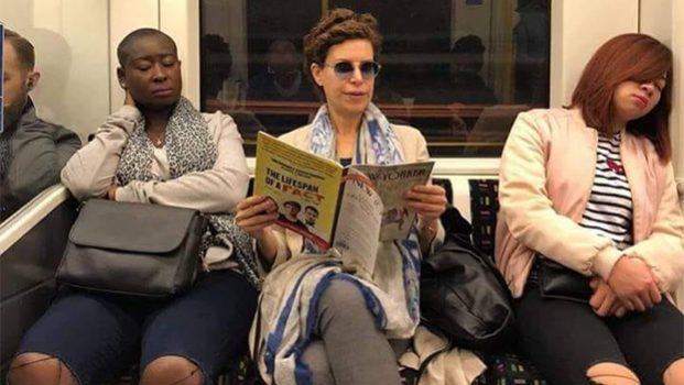 Reaparece Karime Macías en el metro… de Londres