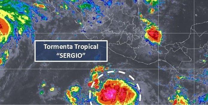 Se forma tormenta tropical Sergio, la nueva amenaza del Pacífico