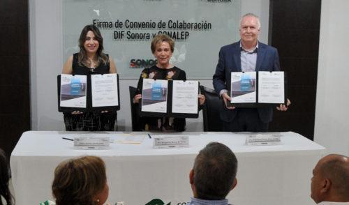 Trabajarán Conalep y DIF Sonora juntos a favor de los más vulnerables