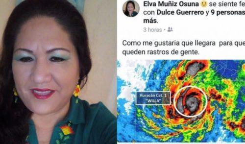 """""""Que llegue el huracán para que no queden rastros de gente"""", publica directora del DIF municipal en Nayarit"""
