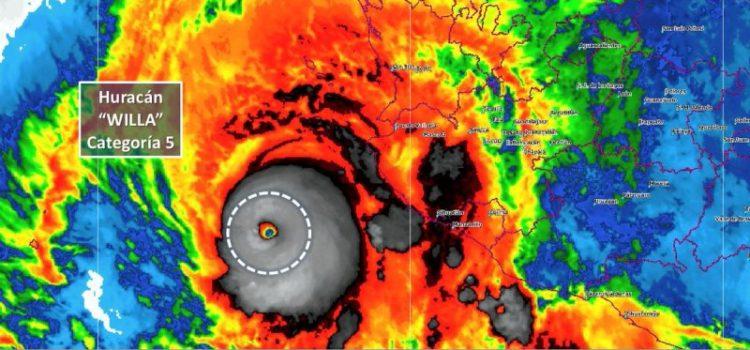 Huracán 'Willa' alcanza la categoría 5 y avanza hacia costas mexicanas