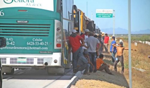 Cruzan migrantes Sonora y van a BC