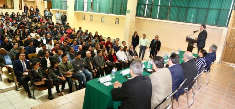 Inaugura Víctor Guerrero Primer Congreso Internacional de Investigación, Cuerpos Académicos y Grupos Disciplinares