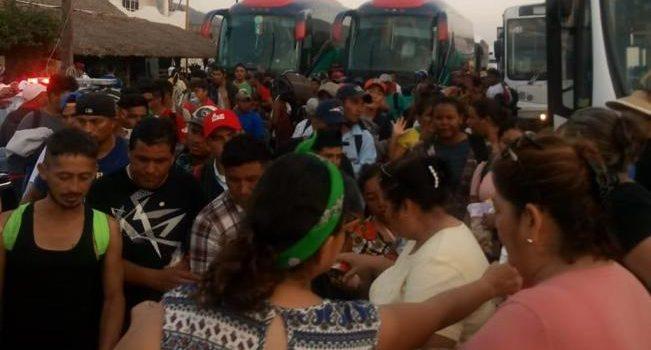 Por llegar a Navojoa migrantes de caravana