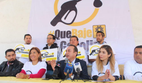 PRD llama a la población a unirse contra el precio de la gasolina