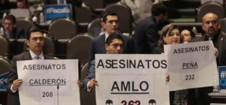 Panistas reprochan que en 10 días de gobierno de AMLO van 363 asesinatos