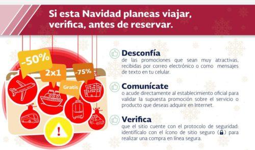 La Secretaría de Seguridad y Protección Ciudadana recomienda tomar precauciones para evitar ser victima de ciber-fraude en este periodo vacacional