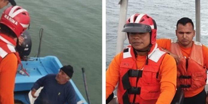 Pescadores perdidos en el Golfo de México son rescatados por Semar