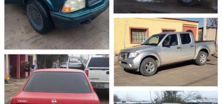 Fiscalía recupera, en alrededor de 72 horas, 16 vehículos con reporte de robo y cumple con siete órdenes de aprehensión