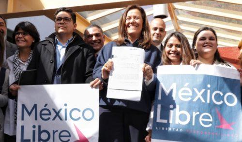 Margarita Zavala registra  a 'Libre' ante el INE