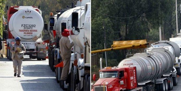 Caravana de 3 mil 500 pipas llevará combustible a estados afectados