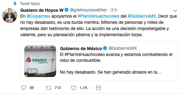 No hay desabasto de gasolina: Gustavo De Hoyos