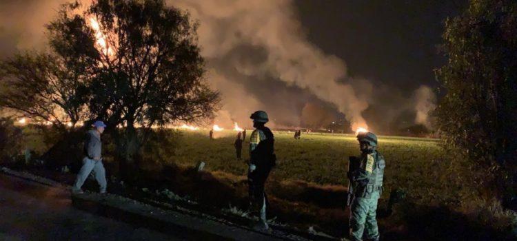 Asciende a 66 el número de muertos por explosión en Tlahuelilpan