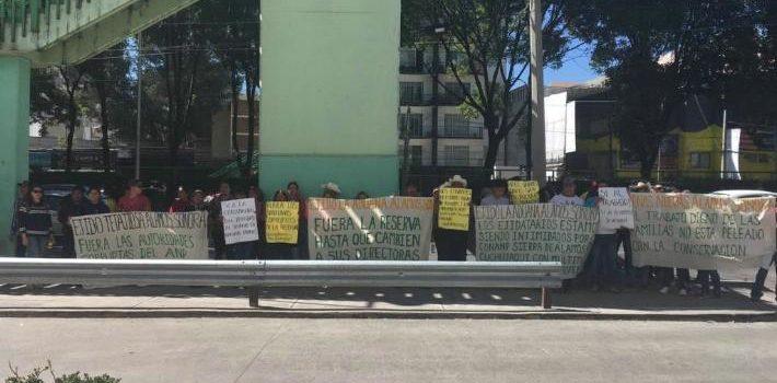 Ejidatarios de Sonora protestan en oficinas de Semarnat en CDMX