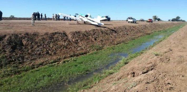 Aterrizaje forzoso de avioneta provoca movilización policiaca en el Valle del Yaqui