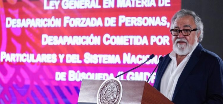 Hay más de 40 mil desaparecidos en México: Alejandro Encinas