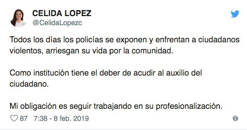 Célida López expresa su sentir sobre joven que fue abatido en la colonia Palo Verde