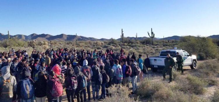 Agentes fronterizos detienen a 325 migrantes centroamericanos