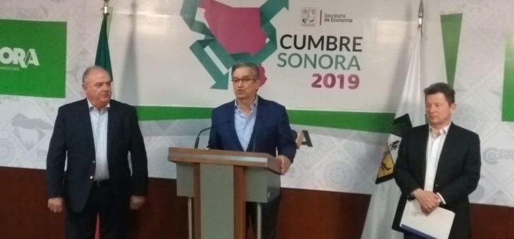 Anuncia secretario de Economía Cumbre Sonora 2019 y edición XXVI del Álamos Alliance
