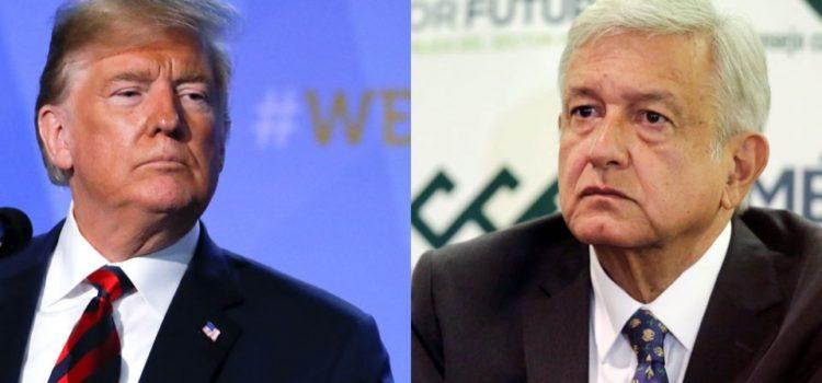 """""""Respetuosa, la crítica de Trump sobre el problema migratorio en México"""", dice AMLO"""