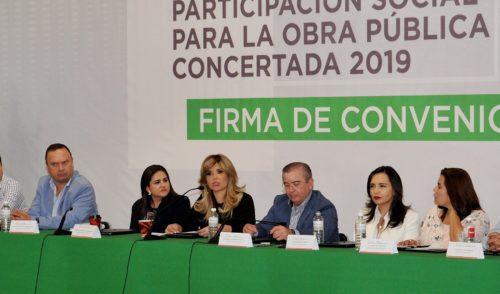 Fortalece Gobernadora a Municipios, con 680 obras públicas para el 2019
