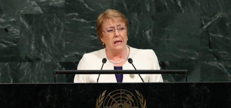 México resiente cifras de país en guerra, afirma Bachelet