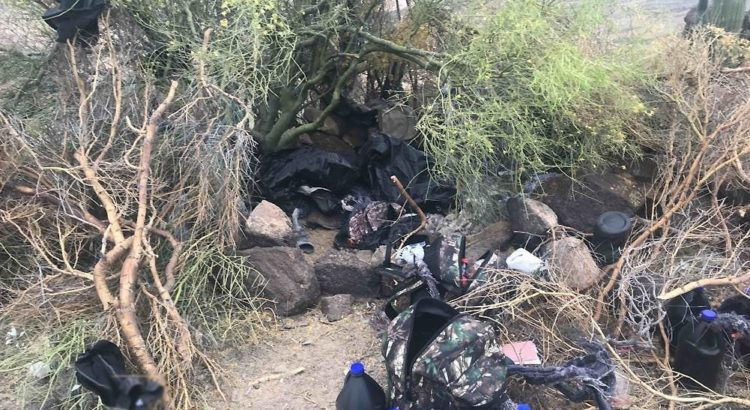 Detienen a 14 personas que resguardaban campamento clandestino en Sonora
