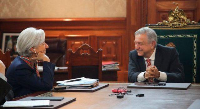 Christine Lagarde pide a AMLO fortalecer crecimiento económico inclusivo