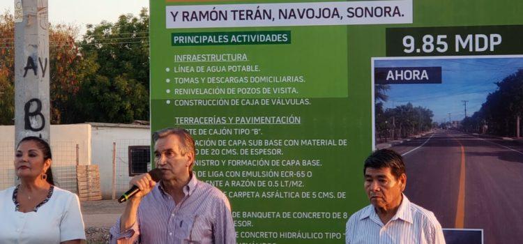 Recibe Navojoa 960 millones de pesos en obras estatales