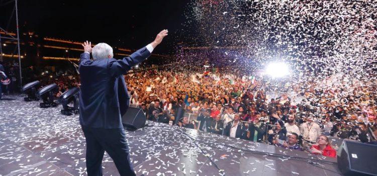 """Fiesta austera con """"bailongo"""", en aniversario de triunfo electoral: AMLO"""