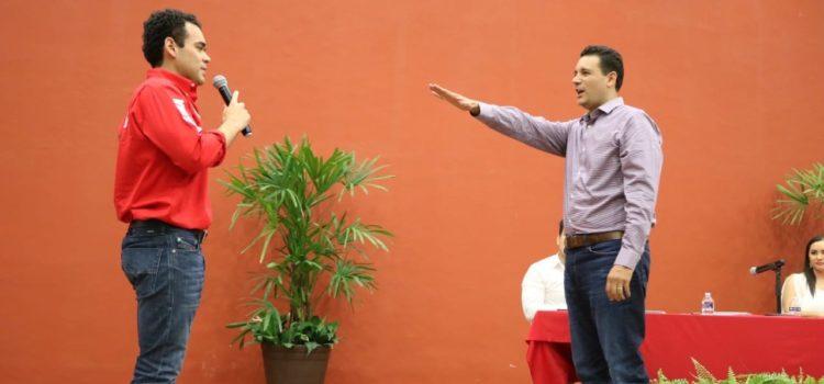 Rinde protesta Jorge Villaescusa Aguayo como coordinador de la campaña de Alito Moreno en Sonora