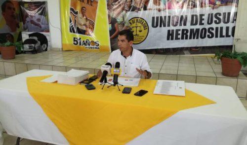 Unión de Usuarios de Hermosillo exige más atención al transporte